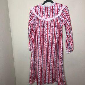 Lanz of Salzburg Flannel Nightgown Size 10-12